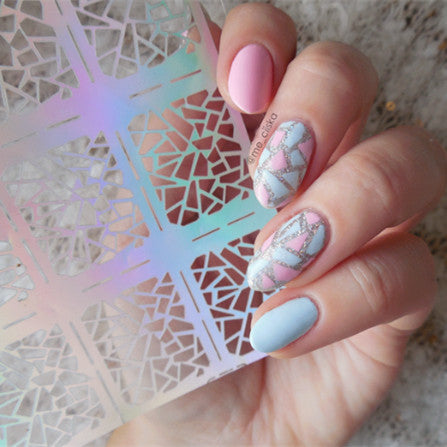 12 Tips/Sheet Irregular Triangle Pattern - Nail Art