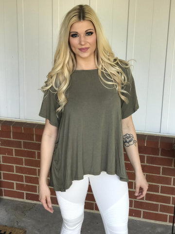 Olivia Lace Up Back Top