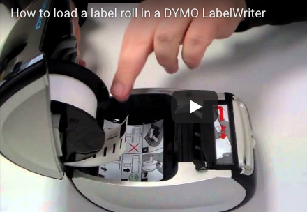 How to load labels into a Dymo printer