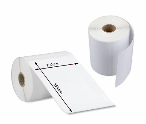 6 x Roll of Direct Thermal Shipping Labels 4x6, 100x150mm (1500 Labels)
