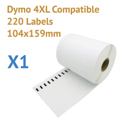 1 x Roll Dymo 4XL Compatible Large Shipping Labels 104x159mm (220 labels)