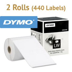 "2 x Genuine Large Shipping Labels LW 4x6"" (104x159mm) for DYMO Labelwriter 4XL S0904980"