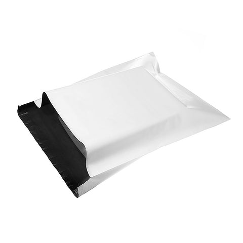 500pcs White Courier Satchel Postal Poly Mailer Bag 350 x 480mm, 65u thickness