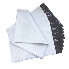 500pcs White Courier Satchel Postal Poly Mailer Bag 400 x 500mm, 65u thickness
