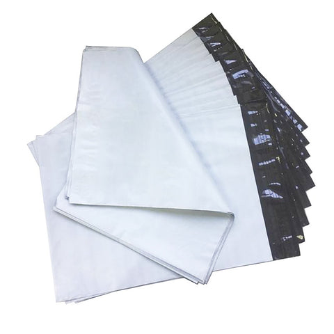 500pcs White Courier Satchel Postal Poly Mailer Bag 310 x 405mm, 60u thickness
