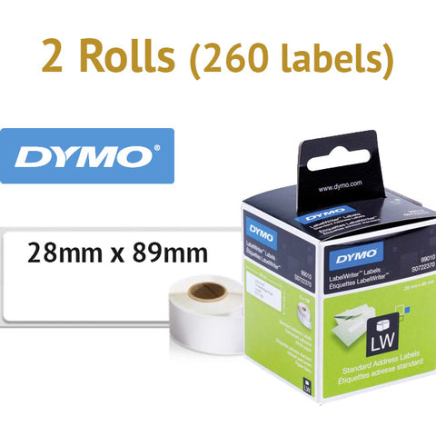 1 Box (260 labels) Genuine Large Address Labels 28x89mm for DYMO Labelwriter LW Printer