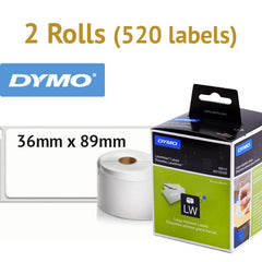 1 Box (520 labels) Genuine Large Address Labels 36x89mm for DYMO Labelwriter LW Printer