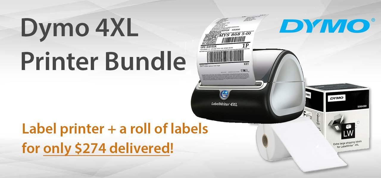 Dymo 4XL Printer Bundle Printer + roll of labels only $274
