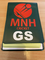 Cricket Umpire Onfield Hard Back Multi Match Card Holder with 20 Internal Pockets