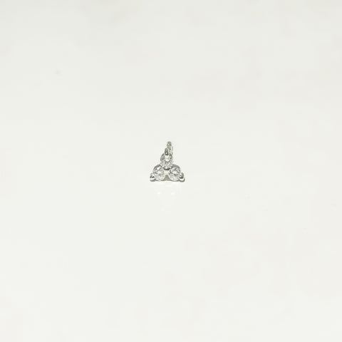 small triple diamond stud