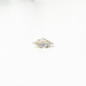 opal and diamond stud