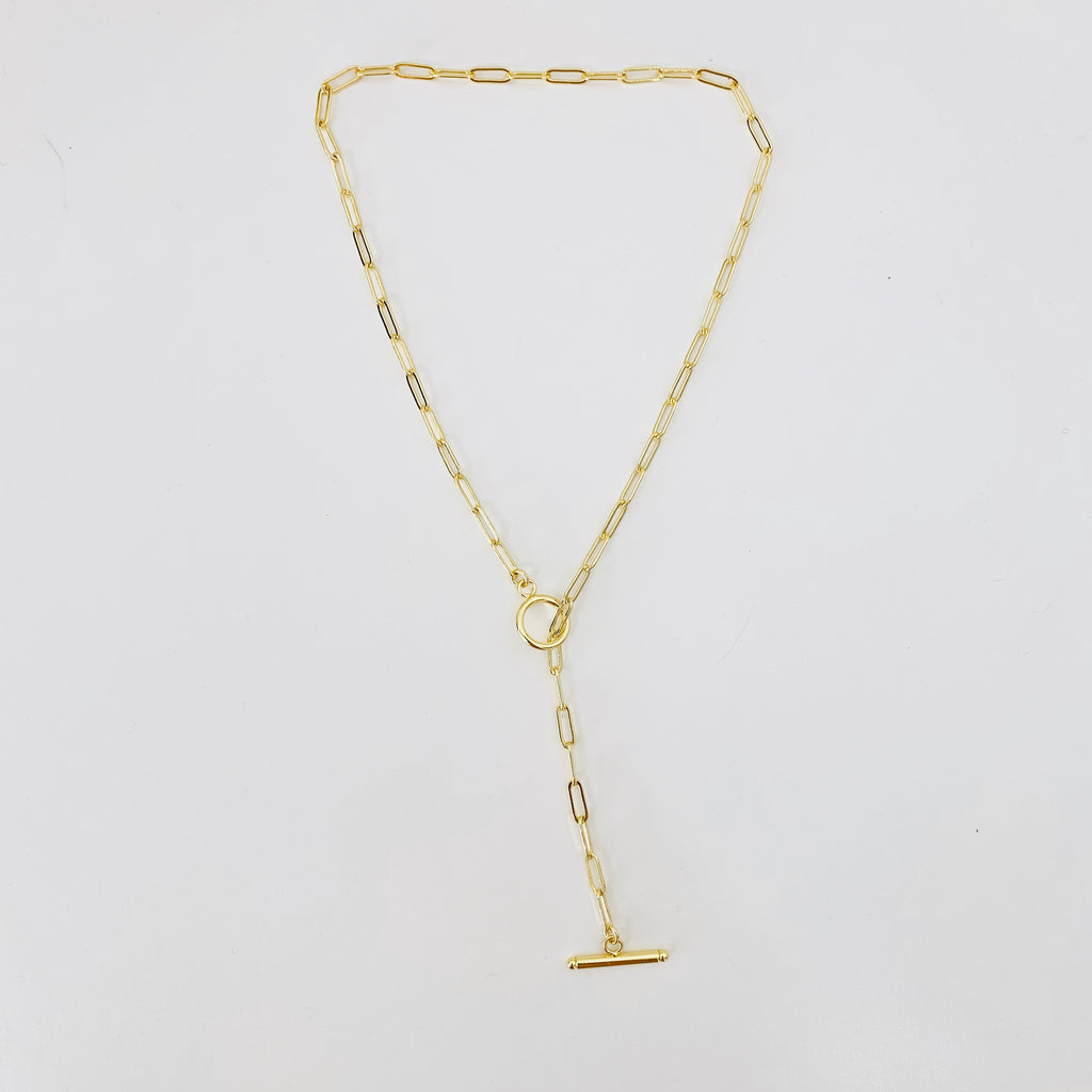 gold toggle lariat