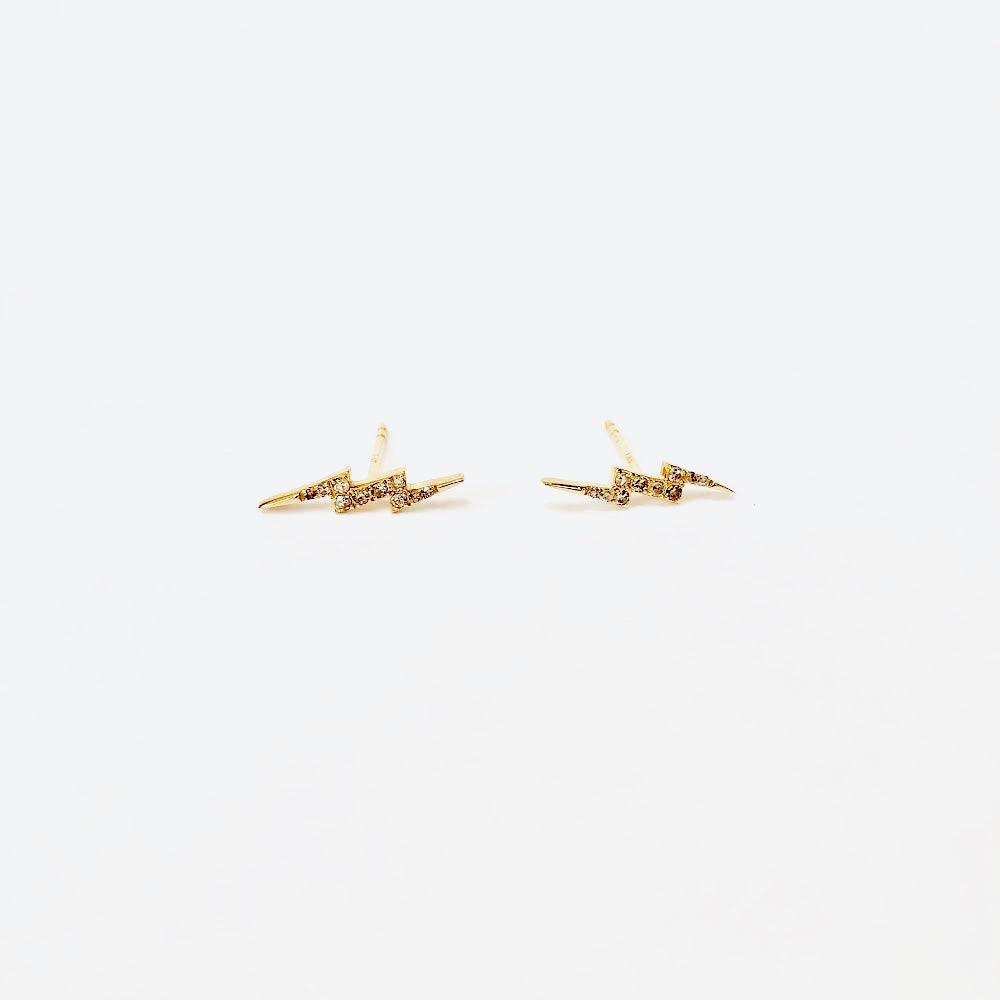 small 14k gold bolts