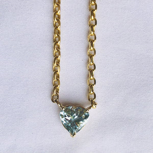 Radiant blue aquamarine necklace