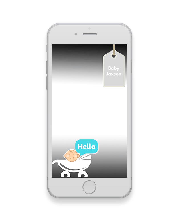 The Name Tag New Baby Geofilter-New Baby-The Geo Factory-The Geo Factory