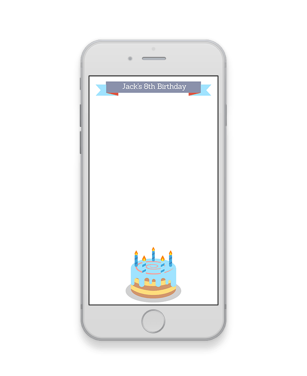 Blue Cake Kids Birthday Party Geofilter-Kids Party-The Geo Factory-The Geo Factory