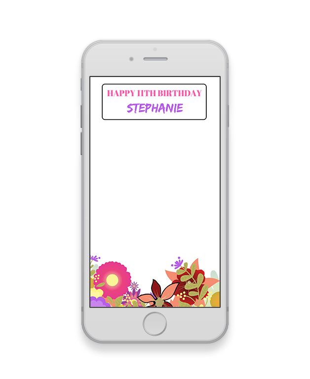 Floral Kids Birthday Geofilter-Kids Party-The Geo Factory-The Geo Factory
