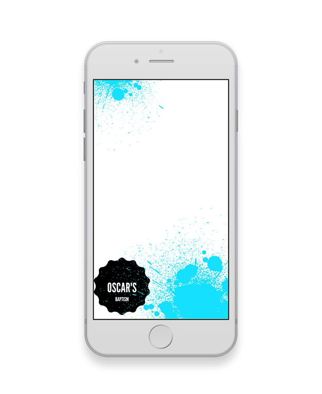 Teal Splash Baptism Geofilter-Baptism-The Geo Factory-The Geo Factory