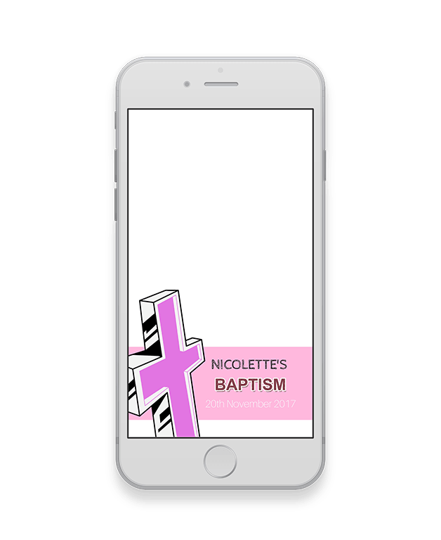 Pink Baptism Geofilter-Baptism-The Geo Factory-The Geo Factory