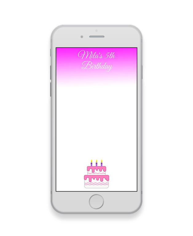 Pink Haze Kids Party Geofilter-Kids Party-The Geo Factory-The Geo Factory