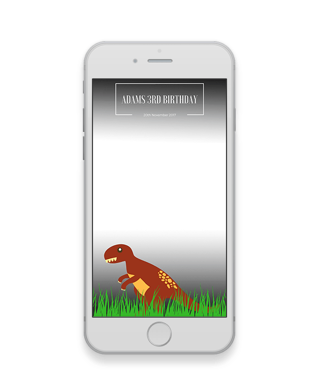 T-Rex Kids Birthday Geofilter-Kids Party-The Geo Factory-The Geo Factory