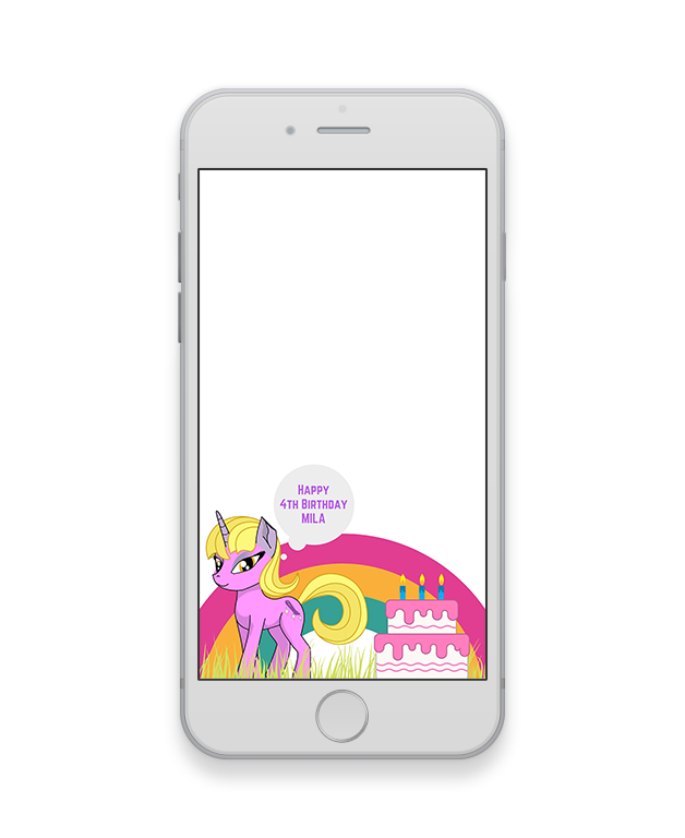 Unicorn Kids Party Geofilter