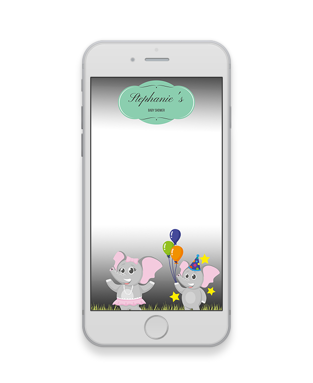 Elephant Baby Shower Geofilter