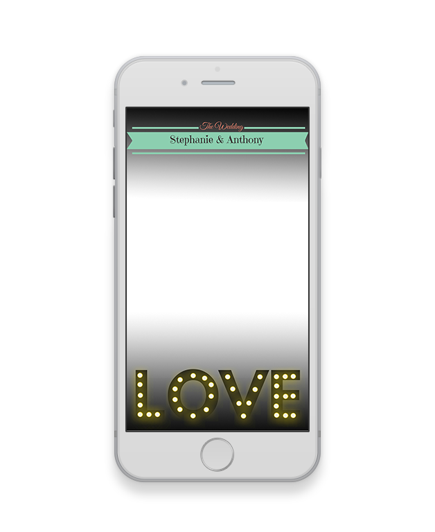 Love Lights Letters Wedding Geofilter