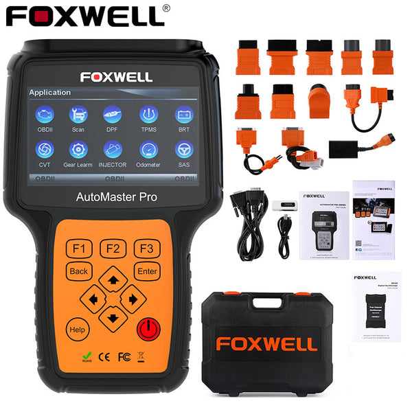 Foxwell NT644 Pro OBD2 Car Auto Scanner with Connector Cables Full System  Automotive Diagnostic Tool
