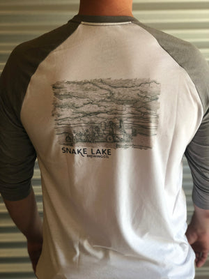 Snake Lake Brewing Baseball T-shirt Mens