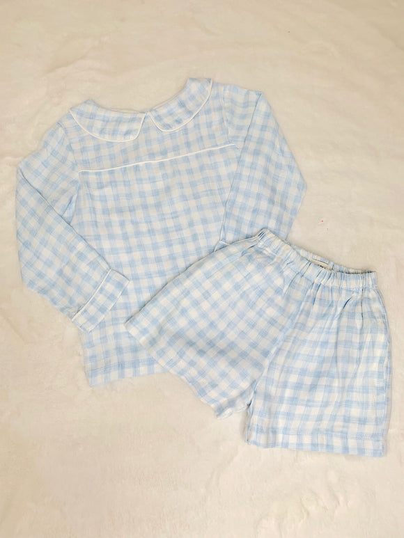 The Oaks 2 pc Blue Plaid Set