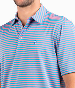 Southern Shirt Perdido Stripe Polo-Blue Flamingo