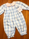 James and Lottie Greta Gingham Long Bubble