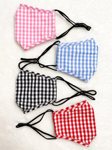 Adult Gingham Face Mask