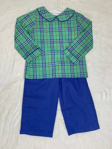 The Oaks Green Plaid 2 pc Collard Set