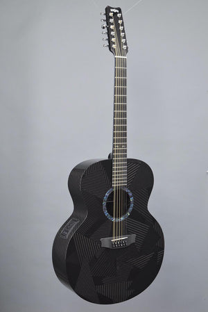 RainSong BI-JM3000 Black Ice Carbon Fiber 12-String Jumbo Guitar