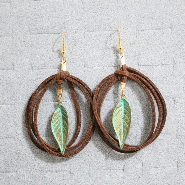 100% Handmade Bohemian Leather Earrings