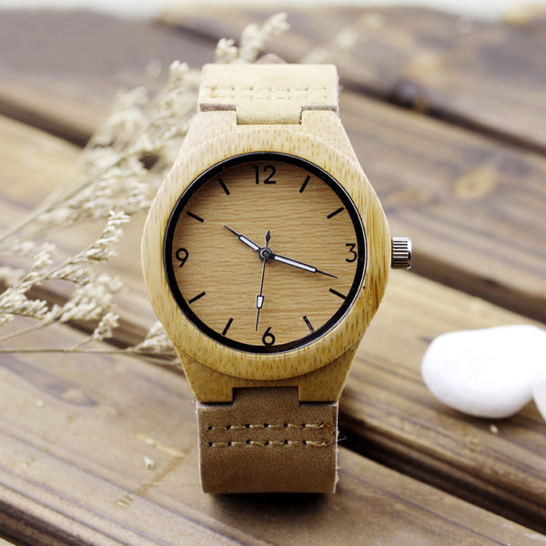 Lady Handcrafted Bamboo Watch