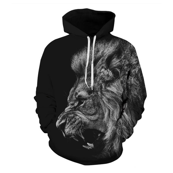 Black Lion 3D Hoodies