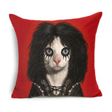 Celebrity Cat Pillow Case Cushion Cover