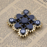Crazy Hand Spinner Fidget Spinner Material Brass 9 gears 10 bearings Turn 2 minute T131 Black