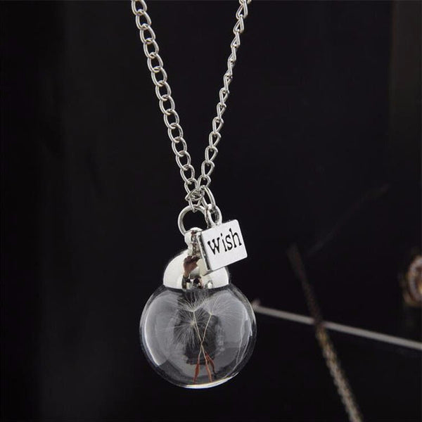 Crystal Glass Ball Dandelion Pendant