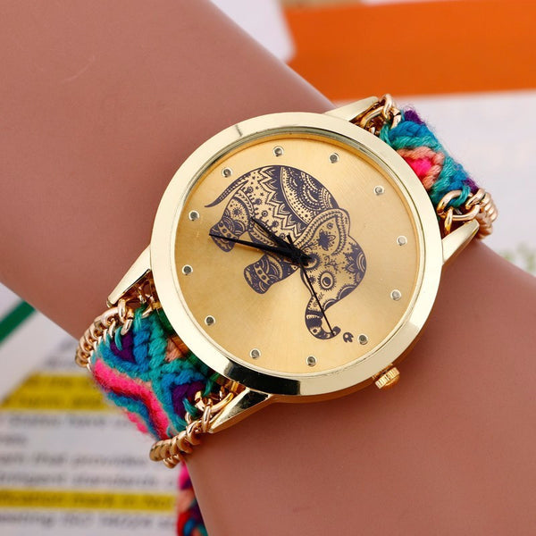 Elephant Quartz Watch with Braided Strap 1