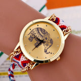 Elephant Quartz Watch with Braided Strap 2