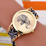 Elephant Quartz Watch with Braided Strap 4