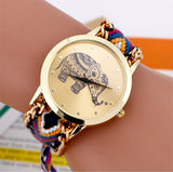 Elephant Quartz Watch with Braided Strap 5