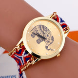 Elephant Quartz Watch with Braided Strap 6
