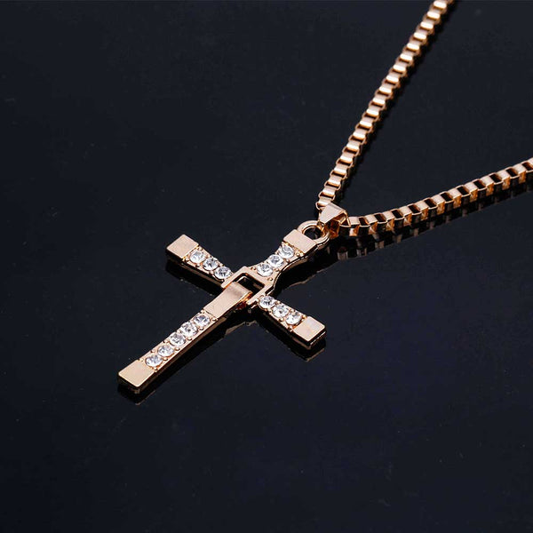 Man-Classic-Cross-Necklace-Fast-and-Furious-Gold