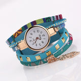 Multi-layered Vintage Watches Blue