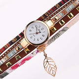 Multi-layered Vintage Watches Brown
